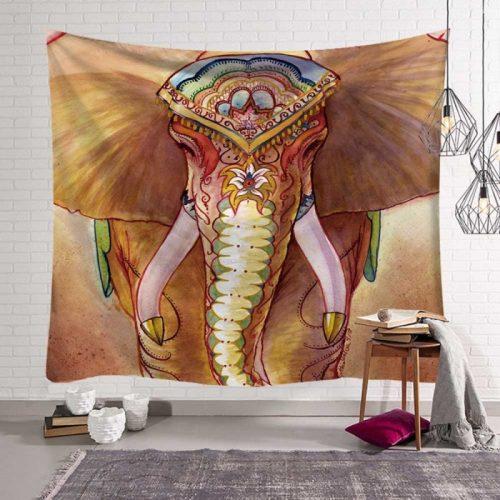Closeup olifant wandkleed, wandtapijt wanddecoratie