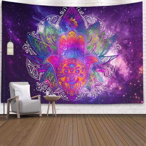 Psychedelisch hamsa hand paars