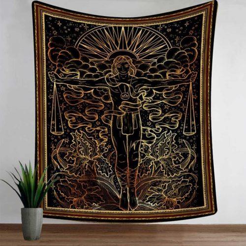 Wandkleed met het sterrenbeeld weegschaal