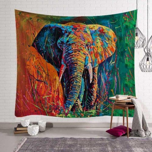 olifant schilderij wandkleed kunstwerk