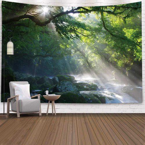 Tropische rivier in het bos