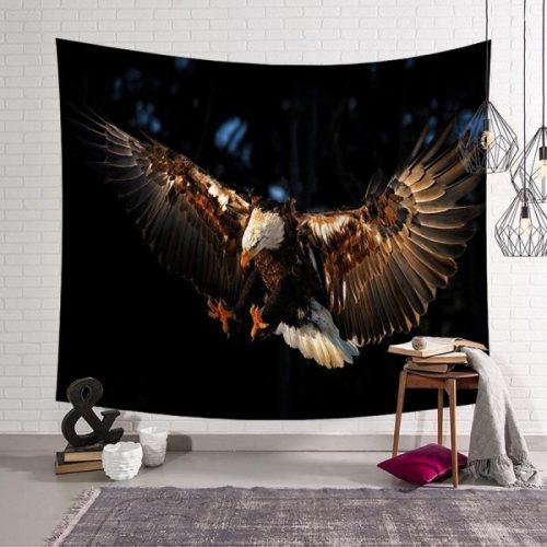 Vliegende adelaar wandkleed