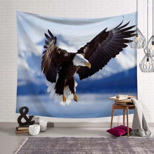 vliegende adelaar wandtapijt overdag